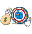 with money bag dragonchain coin character cartoon vector image vector image