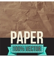 Texture of crumpled paper vector image