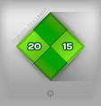215 Green Squares vector image vector image