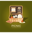 a picnic basket vector image vector image