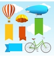 Airship Transport Banners vector image vector image