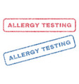 allergy testing textile stamps vector image vector image