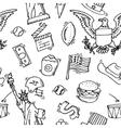 American Doodle set pattern vector image vector image