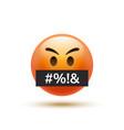 angry emoji curse emoticon swear word reaction vector image