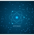 Background with blue shining atom scheme and light vector image