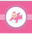 bagirl arrival announcement card vector image vector image