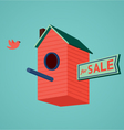 Birds house for sale vector image vector image