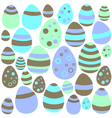 Blue and brown Easter eggs seamless texture vector image