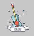 blue guitar related with festa junina celebration vector image vector image