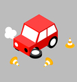Car crash cone vector image vector image
