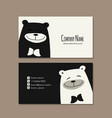 card design with funny bear vector image vector image