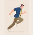 cartoon a man running vector image vector image
