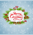 christmas banner with green fir branch vector image