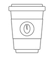 coffee icon outline style vector image vector image