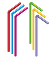 colorful drinking straws vector image vector image
