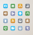 Communication and media icons set vector image