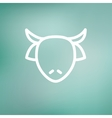 Cow head thin line icon vector image