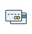 Credit Card outlline icon vector image vector image
