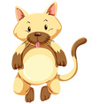 Cute kitten with brown fur vector image vector image