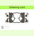 cute panda fold-a-long greeting card template vector image vector image