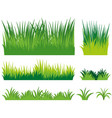 different doodles of grass vector image vector image
