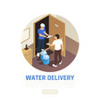 door delivery water background vector image vector image
