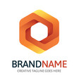 dynamic hexagon logo vector image vector image
