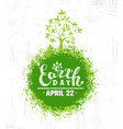 earth day eco green poster design organic vector image vector image