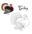 Educational game coloring book turkey bird vector image vector image