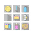 feminine hygiene set of flat objects or vector image vector image