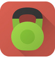 flat icon toy kettlebell vector image