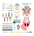 fox with feathers and arrows vector image