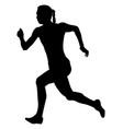 girl sprinter athlete fast running vector image vector image