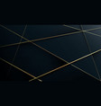Gold lines on dark blue abstract luxury pattern