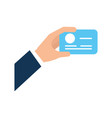 hand human with credit card vector image vector image