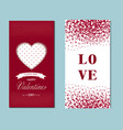 happy valentine day postcard template set design vector image
