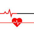 heartbeat icon heart beat line in linear style vector image