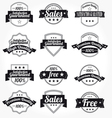 labels retro design vector image vector image
