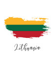 lithuania watercolor national country flag icon vector image vector image