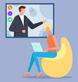 managers have call company meeting or appointment vector image vector image