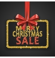 Merry Christmas Sale shiny design template Xmas vector image vector image