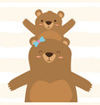 mom bear and son vector image
