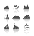 Mountains pictograms icons set vector image vector image