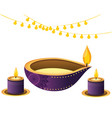 oil aromateraphy candles vector image vector image
