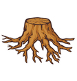 old tree stump with roots vector image