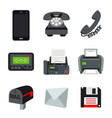 phone mobile fax printer beeper letter mail vector image