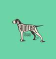 pointer dog logo vector image vector image
