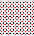 poker card pattern vector image vector image