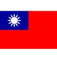 republic china flag vector image vector image