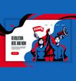 revolution concept banner website vector image